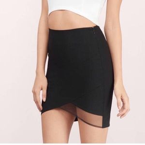 Tobi Maylie Mesh Bodycon Black Skirt